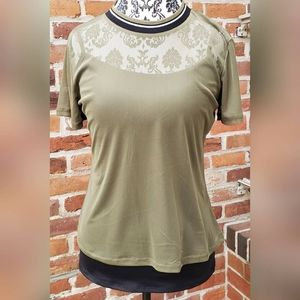 Ultra Flirt Sheer Tee Olive Green